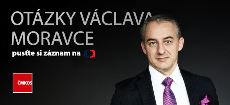Josef Středula v Otázkách Václava Moravce