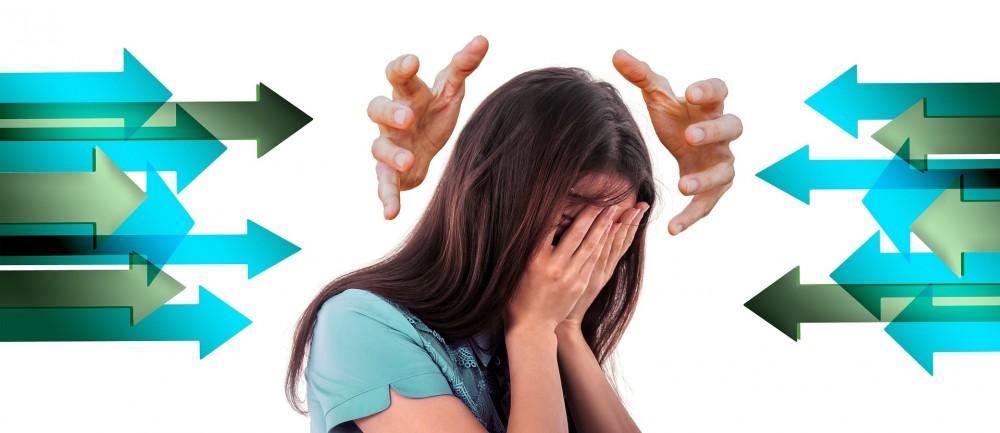 stress žena velká