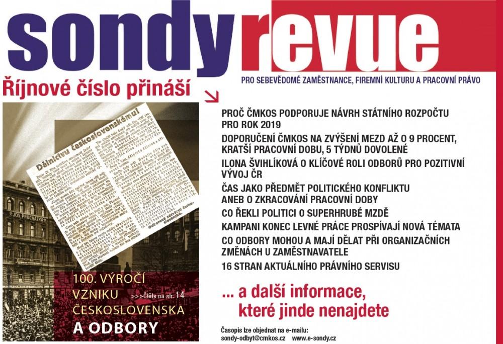 Sondy REVUE 10/018 reklama
