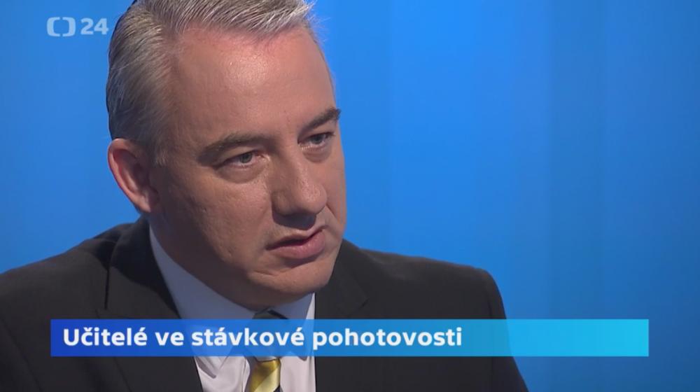 Josef Středula v pořadu Interview ČT24