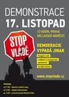 Czech demonstration poster