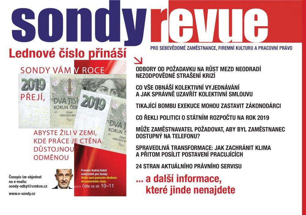 Sondy REVUE 12/2018 - leták