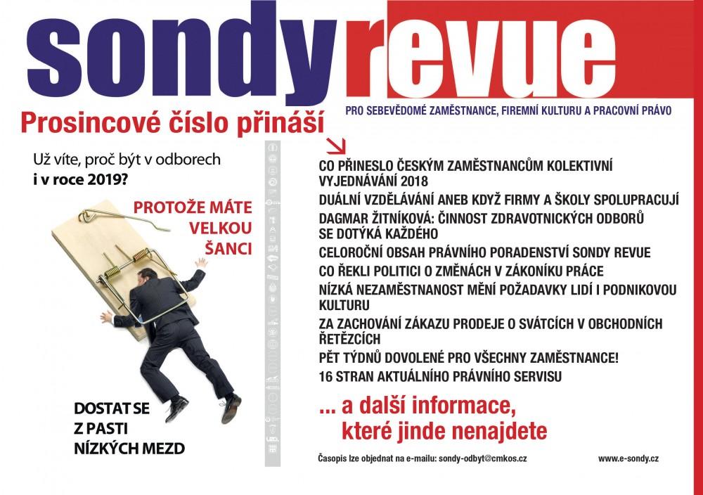 Sondy REVUE 12/2018 Leták