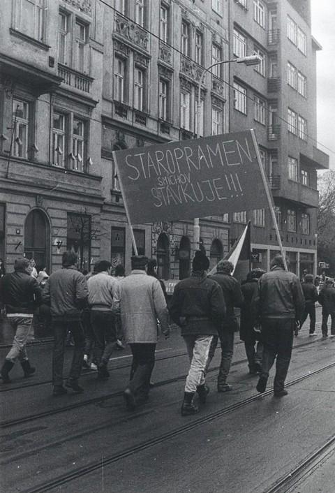 Generální stávka – Staropramen stávkuje; Archiv UK