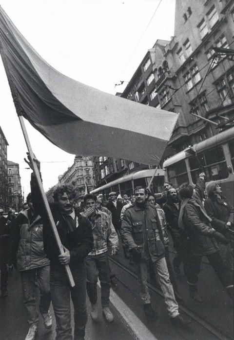 Generální stávka – v Jindřišské ulici?; Archiv UK