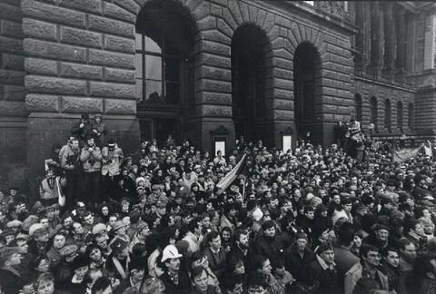 Generální stávka – u Filozofické fakulty?; Archiv UK