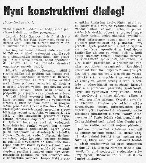 Nyní konstruktivní dialog 2; Dimitrovec 22. prosince 1989