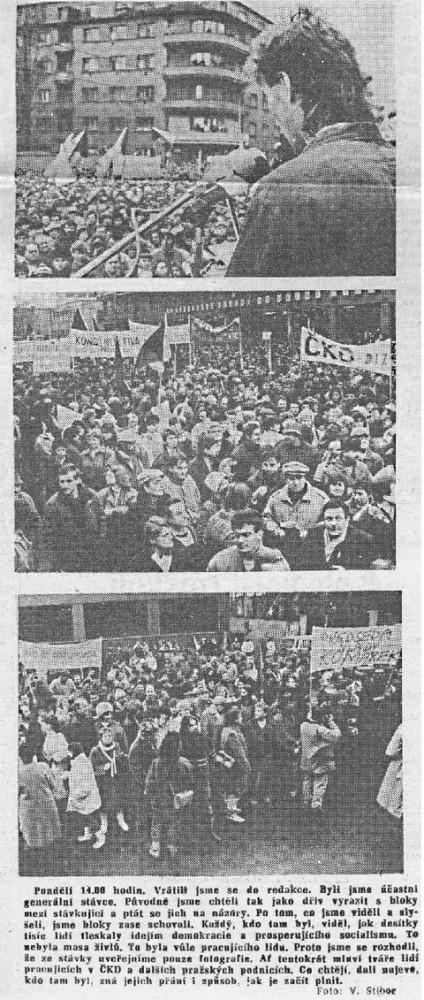 Kovák ČKD Praha 5. prosince 1989