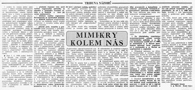 Mimikry kolem nás, Rudý říjen. Noviny pracujících v p. Barum-Rudý říjen, Otrokovice 23. února 1990