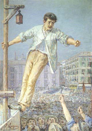 Emilio Longoni, Stávkový řečník, 1891